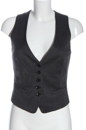 s.Oliver Chaleco de vestir gris claro estampado a rayas estilo «business»