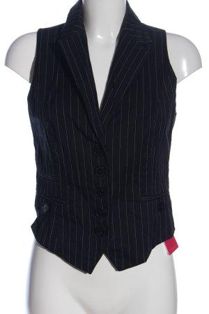 s.Oliver Anzugweste schwarz-weiß Streifenmuster Casual-Look