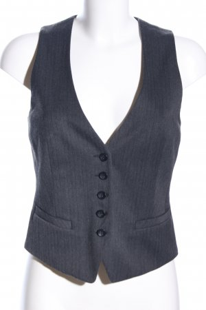 s.Oliver Waistcoat light grey striped pattern business style