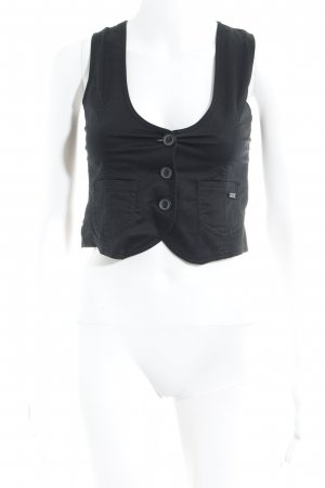 s.Oliver Waistcoat black striped pattern business style