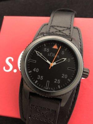 s.Oliver Armbanduhr Black Edition