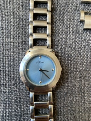s.Oliver Watch With Metal Strap silver-colored-azure