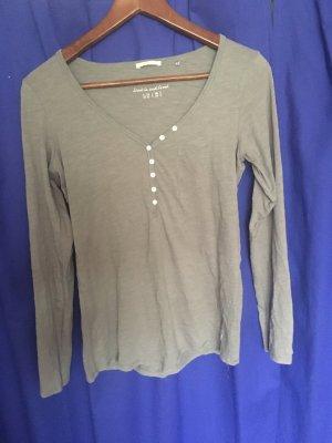 s.Oliver T-shirt col en V gris