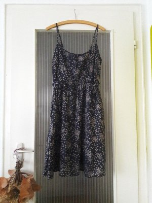 s.Oliver Babydoll Dress dark blue-light grey cotton