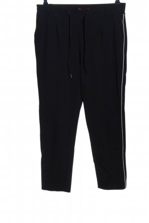 s.Oliver Baggy Pants schwarz-weiß Streifenmuster Casual-Look