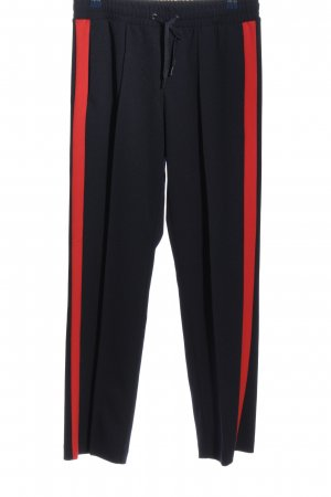 s.Oliver Baggy Pants schwarz-rot Casual-Look