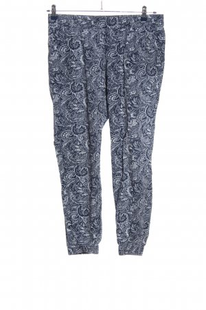 s.Oliver Baggy Pants blau-weiß abstraktes Muster Casual-Look