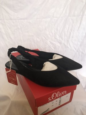 s.Oliver Slingback Ballerinas black