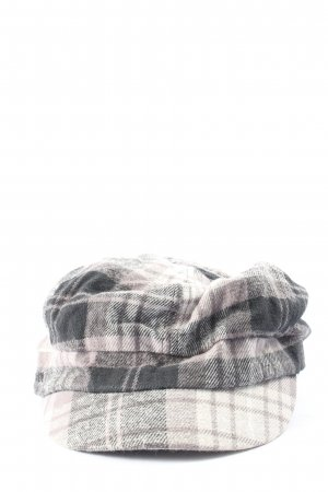 s.Oliver Baker's Boy Cap black-light grey check pattern casual look