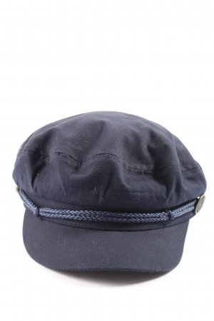 s.Oliver Baker's Boy Cap blue casual look