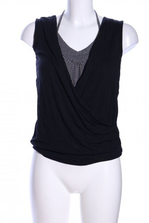 s.Oliver Basic topje zwart-wit volledige print casual uitstraling