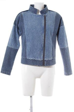 s.Oliver Bikerjacke kornblumenblau-stahlblau Steppmuster Biker-Look