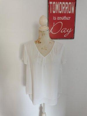 S.Oliver Black Label Damen Chiffon Shirt Business weiß Größe 40