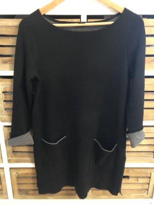 S. Oliver Black Label Kleid Long Pullover Gr. 36 / S schwarz grau