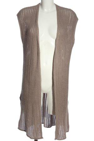 s.Oliver Black Label Gilet long tricoté brun torsades style décontracté