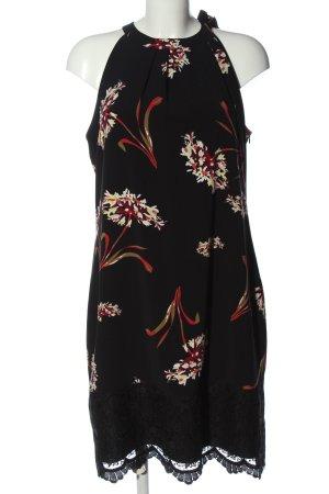 s.Oliver Black Label Halter Dress black flower pattern elegant
