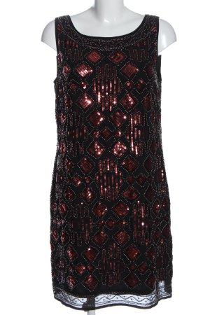 s.Oliver Black Label Abito con paillettes nero stampa integrale elegante