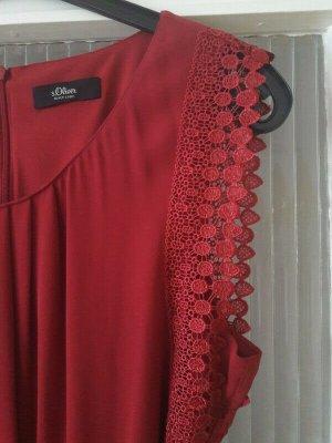s.Oliver Black Label rotes Kleid mit Spitze 40er 50er Stil NEU