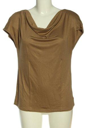 s.Oliver Black Label Camisa con cuello caído marrón look casual