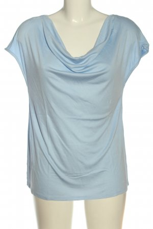 s.Oliver Black Label Camisa con cuello caído azul punto trenzado look casual