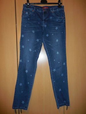 s.Oliver Boyfriend jeans staalblauw Katoen