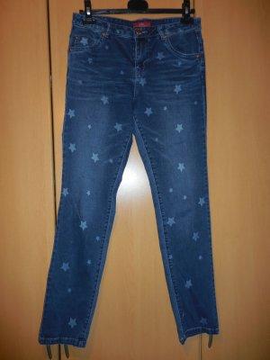 """""""s´Oliver"""" blaue Damenjeans mit Sternen, Jeans, Gr. 34, Damenhose, Hose;"""