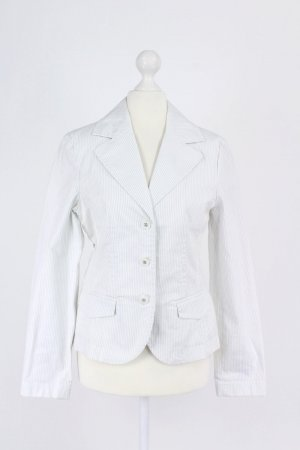 Anastacia by s.Oliver Blazer court blanc-gris clair coton