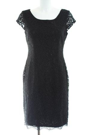 s.Oliver Bleistiftkleid schwarz Blumenmuster Elegant