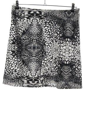 s.Oliver Bleistiftrock weiß-schwarz abstraktes Muster Casual-Look