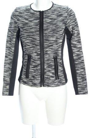 s.Oliver Blouson grigio chiaro-nero puntinato stile casual