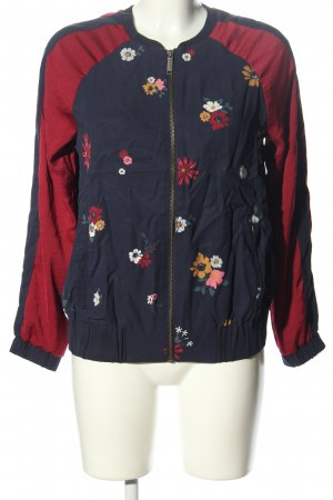 s.Oliver Blouson blau-rot Blumenmuster Casual-Look