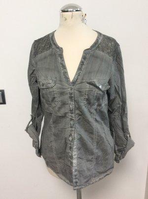 s.Oliver Kanten blouse grijs