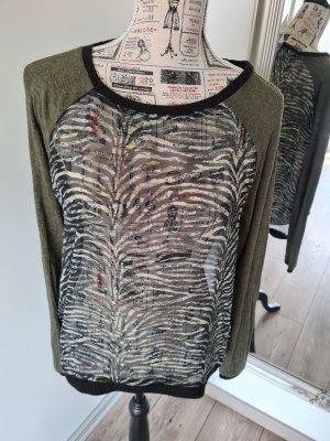 s.Oliver Inserción de blusa gris verdoso-caqui