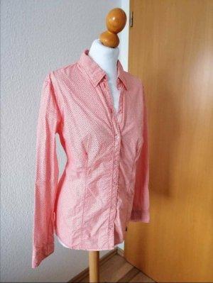 S. Oliver Bluse weiß orange Muster Hemd S.Oliver Neu 40