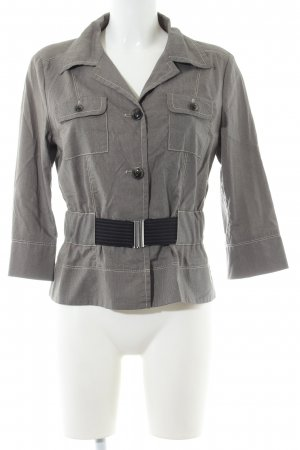 s.Oliver Blouse Jacket light grey weave pattern casual look