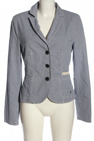 s.Oliver Blouse Jacket white-blue allover print casual look