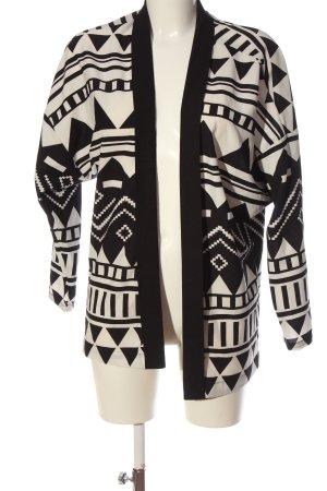 s.Oliver Chaqueta tipo blusa negro-blanco puro Mezcla de patrones look casual