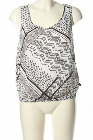 s.Oliver Blouse topje wit-zwart grafisch patroon casual uitstraling