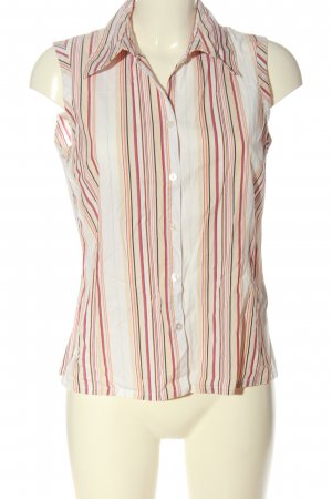 s.Oliver Blouse topje wit-rood gestreept patroon casual uitstraling