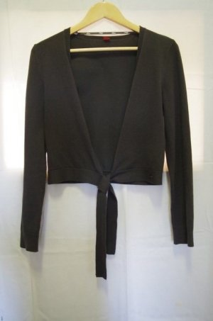 s.Oliver Knitted Wrap Cardigan anthracite