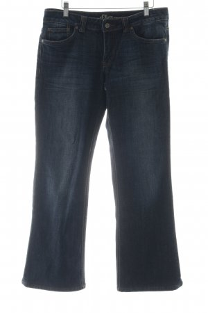 s.Oliver Boot Cut Jeans dunkelblau meliert Casual-Look