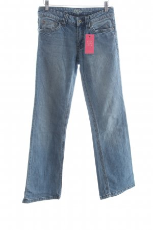s.Oliver Boot Cut Jeans hellblau Logo-Applikation