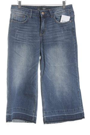 s.Oliver Boot Cut Jeans stahlblau Used-Optik