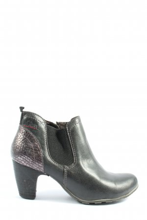 s.Oliver Booties schwarz Animalmuster Casual-Look