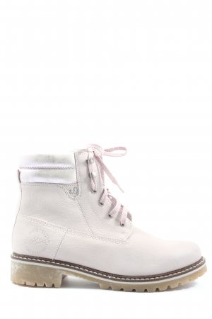 s.Oliver Booties natural white-pink casual look