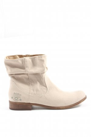 s.Oliver Booties wollweiß Motivdruck Casual-Look