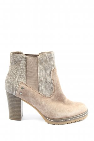 s.Oliver Booties wollweiß Animalmuster Casual-Look