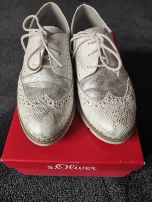 s.Oliver Wingtip Shoes white-silver-colored