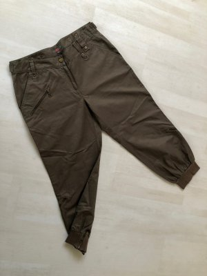 Anastacia by s.Oliver Baggy Pants grey brown-white cotton