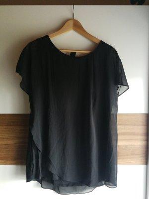 S.Oliver Premium Waterval shirt zwart